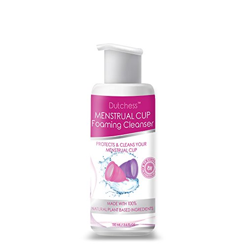 (Dutchess Menstrual Cup Foaming Cleanser - Multi-Use Feminine Wash - Suitable for all skin types - Organically Sourced Plant Based Ingredients - 100ml )