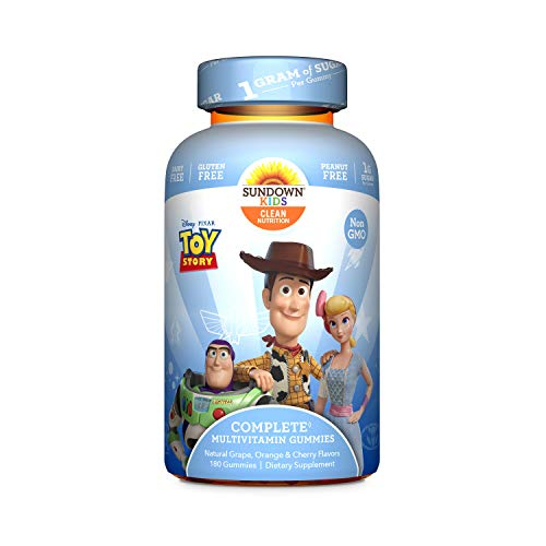 Sundown Kids Disney and Pixar Toy Story 4 Multivitamin Gummies, Vitamins A, C, D, E, Gluten-Free, Dairy-Free, Peanut…
