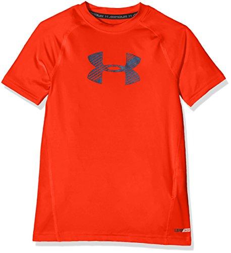 Garçon Armour Foncé Manches Ss À T Under shirt Courtes Orange 0q1vwd