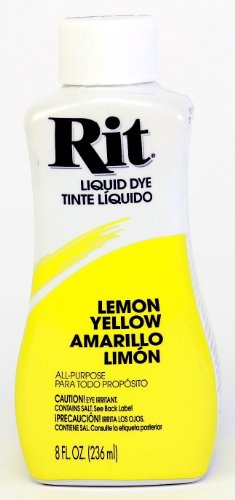 Rit Dye Liquid Dye, 8 fl oz, Lemon Yellow, 3-Pack - Dye Lemon