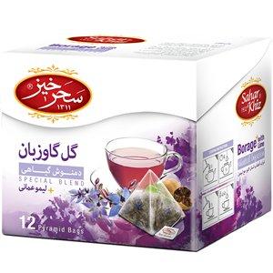Saharkhiz Borage Herbal Infusion with Lime 12 pyramid Bags
