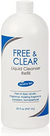 Pharmaceutical Specialties Free & Clear Liquid Cleanser for Sensitive Skin, 32 Ounce