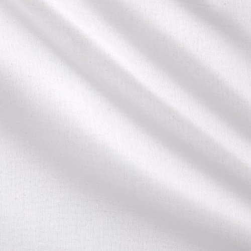 Fabric Cotton Voile White by The Yard, White -