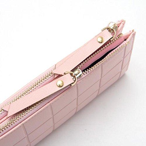 1 Sac 5 Relief Long Zip Plaid 10 en Pink Pochette de pour Extérieur Femmes Boucle cm Pièce Sac 19 de 5 WalletPurse soirée Taille Double 8 Commerce Aw1RIvqn