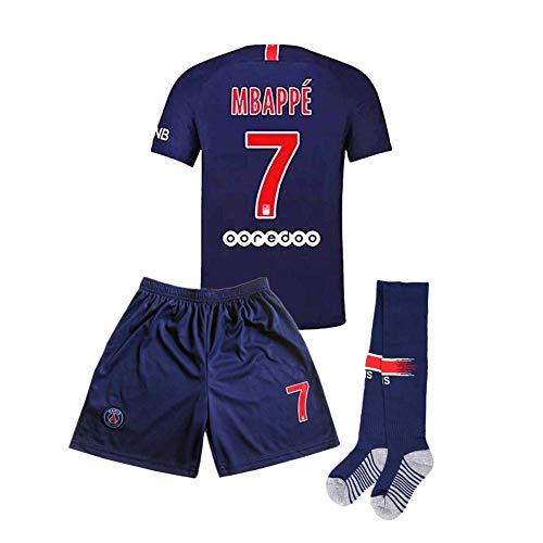 Home MBAPPE  7 Kids Youth Paris Saint-Germain Football Jersey Color Blue  8-9Years 8876de221