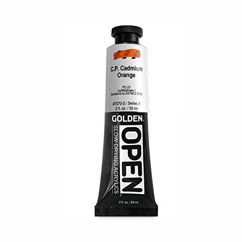 Open 2 Oz Acrylic Color Paint Color: Cadmium Orange