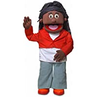 """30"""" Sierra, Black Girl, Professional Performance Puppet with Removable Legs, Full or Half Body"""