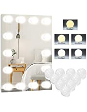 Lampa LED do lustra, 5 kolorów Hollywood, 10 przyciemnianych świateł do makijażu, lampa do toaletki, lampa do makijażu, lampa do lustra kosmetycznego, lustro łazienkowe