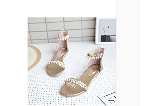 WHW Women's Summer Club Leather Party Evening Dress Casual Chunky Heel  Rhinestone sandals: Amazon.ca: Shoes & Handbags