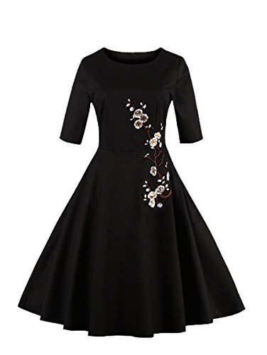 embroidered applique dress - 9