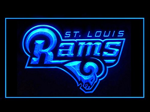 Price comparison product image St. Louis Rams 1995-2015 Football Led Light Sign Blue
