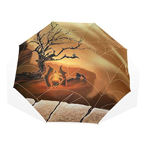 LORVIES Halloween Spirit Spider Web Foldable Sun Rain