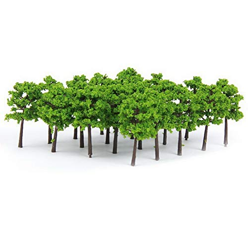 Architectural Model Supply - YBpineer 20Pcs Model Trees Train Scenery Landscape N Scale 1/150 Plastic Architectural Model Supplies Building Kits Toys Children