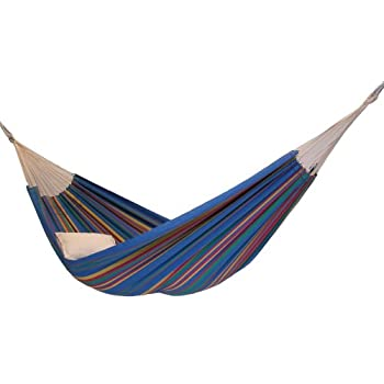 recycled cotton single brazilian barbados hammock by byer of maine  blue sky  amazon     barbados hammock brazilian style hammock by byer of      rh   amazon