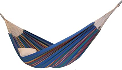 Medium image of recycled cotton single brazilian barbados hammock by byer of maine  blue sky