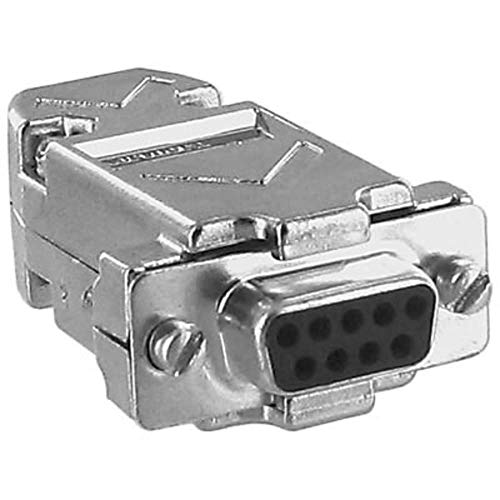 connector; d-sub kit; 9 crimp cont receptacle w/cont and metalized plastic hood Pack of ()