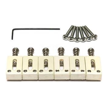 Tusq PQ-8000-F0 - Conjunto de silletas para guitarras de 6 cuerdas tipo Stratocaster y Telecaster (espaciado de 5,6 cm): Amazon.es: Instrumentos musicales