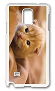 MOKSHOP Adorable kitty hd Hard Case Protective Shell Cell Phone Cover For Samsung Galaxy Note 4 - PC White by lolosakes