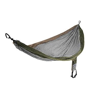 Eagles Nest Outfitters - SingleNest Hammock, Khaki/Silver/Olive (FFP)