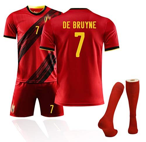 Camiseta de Bélgica 10# Hazard 7# Camisetas de fútbol De Bruyne para la Copa de Europa 2020 Camiseta de Aficionados al…