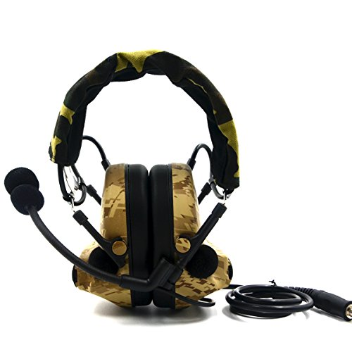 Electronic Earmuff Sport Hearing Protector for Hunting & Shooting, Sand Color by Dolphin