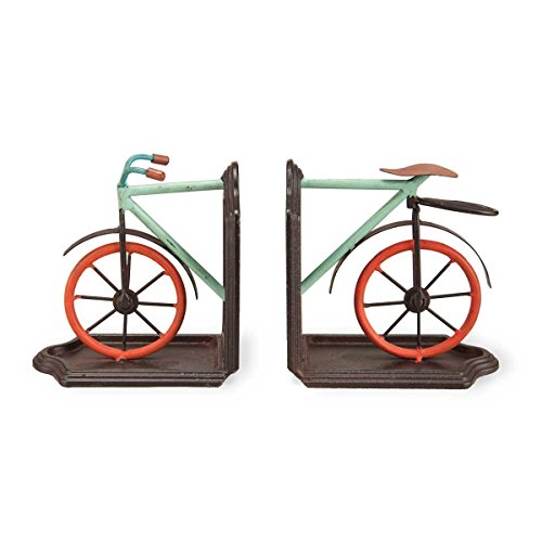 Foreside Bike Book Ends (Set of 2) by Foreside