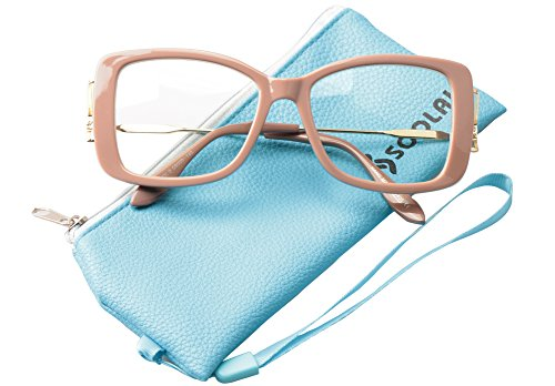 SOOLALA Ladies Lightweight Large Frame Eyeglass Fashion Reading Glass