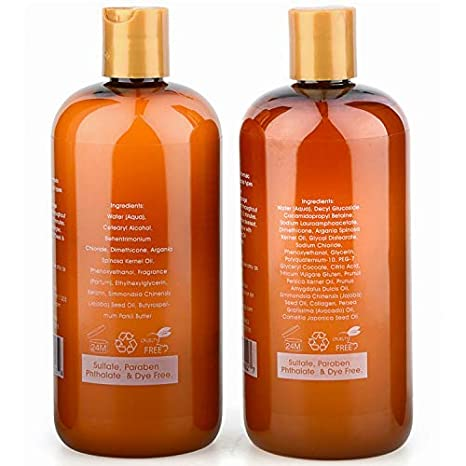 Amazon.com : Purelis Argan Oil Shampoo and Conditioner Set, Extra Strength Formula with Keratin & Dead Sea Minerals. Restores Shine, Moisturizes Dry ...