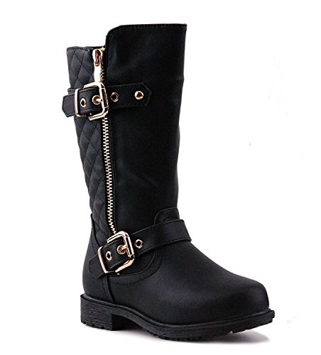 Little Girls New Knee High Flat Riding Boots Shoes, ()
