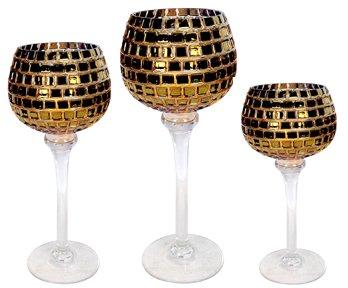 Palais Glassware Elegant Bougeoir Collection, Set of 3 Hurri