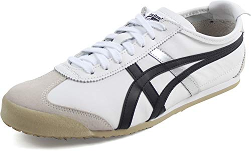 Onitsuka Tiger - Unisex-Adult Mexico 66 Sneakers, Size: 5.5 D(M) US Mens / 7 B(M) US Womens, Color: White/Black ()