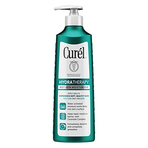 Eucerin Bath - Curél Hydra Therapy Wet Skin Moisturizer for Dry & Extra-Dry Skin, 12 Ounces