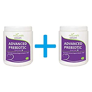 nature's velvet Advanced Prebiotics for Gut Immune System Booster and Dietary Fiber Fuels Good Bacteria Growth for Digestive Health, Gas Relief and Digestion 300gms Powder (BUY 1 GET 1 FREE)