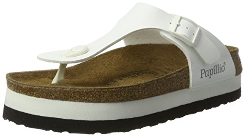 Papillio by Birkenstock Gizeh Ladies Platform Toe Post Sandals White 40 by Papillio