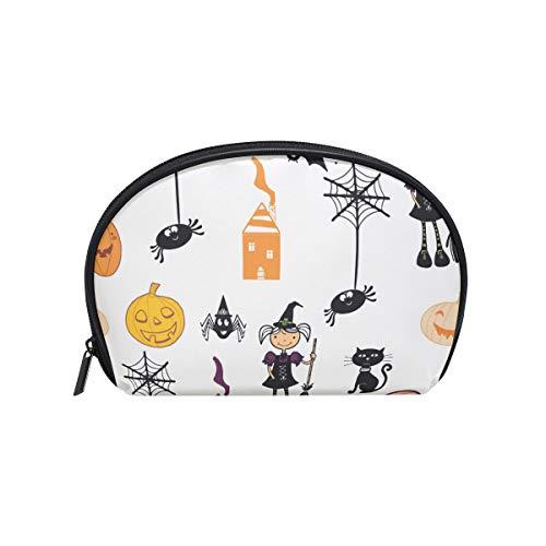 LORVIES Hallowen Pattern Cosmetic Pouch Clutch Makeup Bag Travel Organizer Case Toiletry Pouch for Women ()