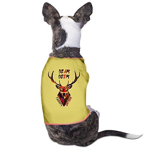 Custom Puppy Shirt Dear Deer,Twenty Sixteen For Dogs Cats 100% Polyester