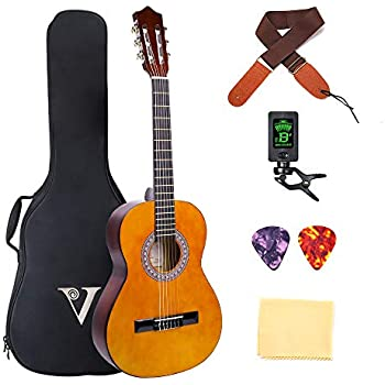 music alley 6 string junior guitar right handed natural ma34 n musical instruments. Black Bedroom Furniture Sets. Home Design Ideas