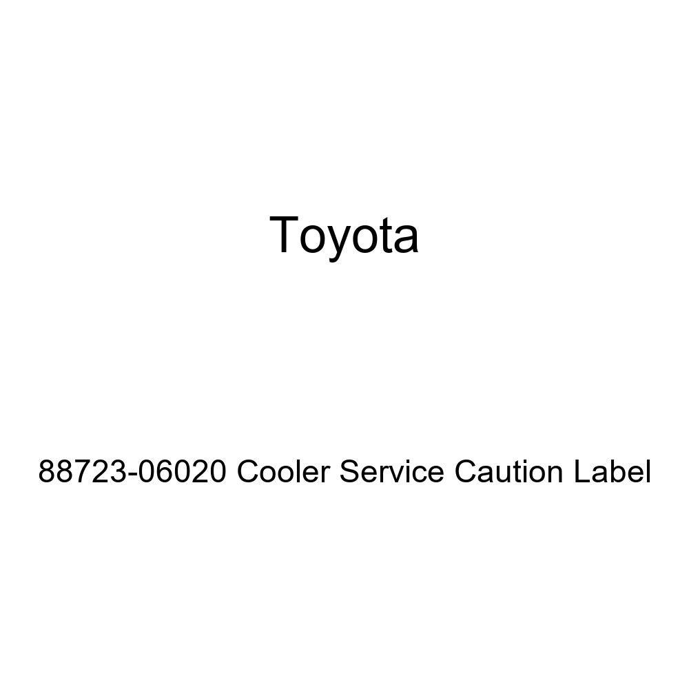 TOYOTA 88723-06020 Cooler Service Caution Label