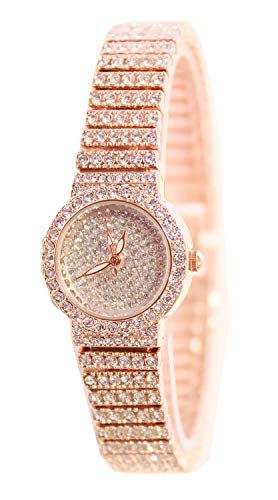 Jechin Fashion Women's Charm Rose Gold Bling Bling Starry Sky Small Diamond Bracelet Watches
