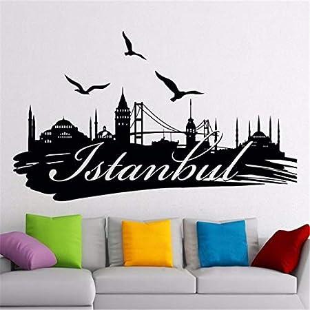 Estambul Tatuajes de pared Logo Turquía Famosa silueta Paisaje ...