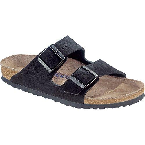 45451910d2aee Birkenstock Unisex Arizona Soft Footbed Suede Sandals, Black Suede ...