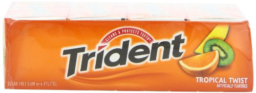 012546619592 - Trident Sugarless Gum, Tropical Twist, 18-Count Packages (Pack of 12) carousel main 5