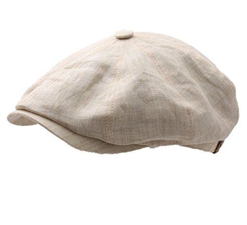 Stetson Hatteras Linen Newsboy Cap Size M ()