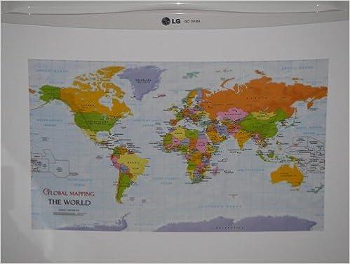 Fridge map the world magnetic world map world maps amazon fridge map the world magnetic world map world maps amazon global mapping books gumiabroncs Choice Image