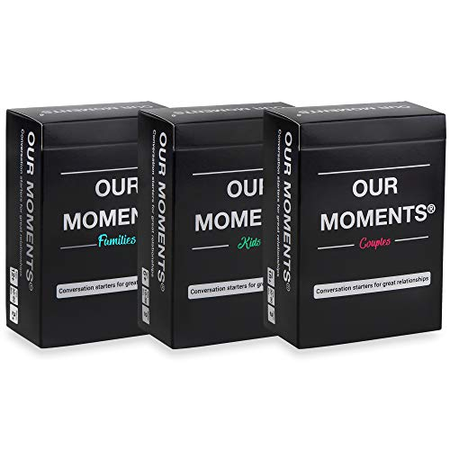 OUR MOMENTS Road-Trip Bundle: 300 Thought Provoking Conversation Starters for Couples