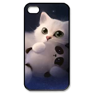 LZHCASE Diy Customized hard Case Lovely Cat For Iphone 4/4s [Pattern-1]
