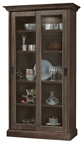 Howard Miller 670032 Meisha III-Aged Auburn Solid Wood Display Cabinet Made in ()