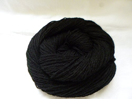 Dk Weight Sock Yarn - Jet Black Sport DK Weight Soft Washable Synthetic Sock Yarn