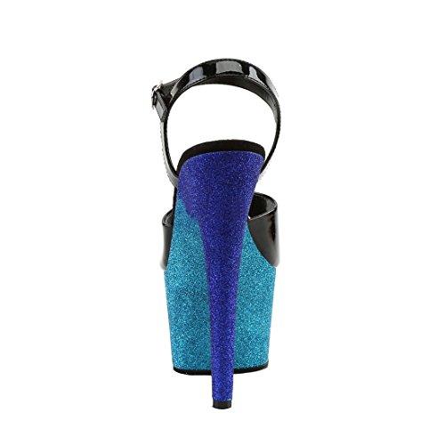 Blk Ombre ADORE Pat Pleaser 709OMBRE blue Aqua nf6REW