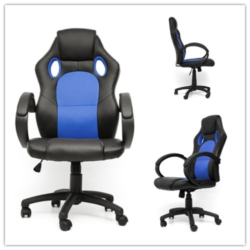41 GBbpKGZL - NewRetailGlobal-Gaming-Chair-Office-Chair-Racing-Car-Gaming-Leather-Chair-Adjustable-Ergonomic-Blue